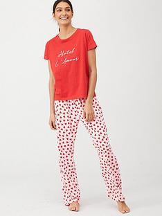 v-by-very-hotel-lamour-t-shirt-pyjamas-heart-print