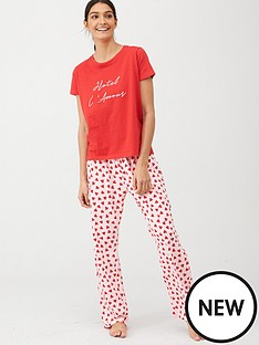 v-by-very-hotel-lamour-t-shirt-pyjamas-heart-print