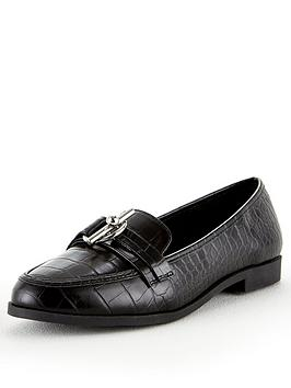 V by Very V By Very Mandy Wide Fit Trim Loafer - Black Picture