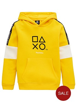playstation-boys-playstation-hoodie-yellow