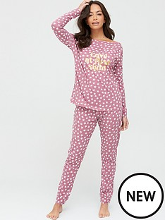 v-by-very-love-at-first-sight-slouch-top-pyjama-set-star-printnbsp