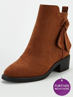 v-by-very-fala-knot-detail-ankle-boots-tan