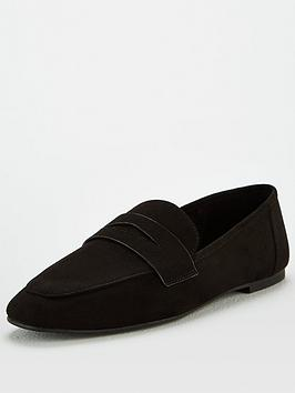 V by Very V By Very Mya Square Toe Penny Loafers - Black Picture
