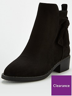 v-by-very-mable-wide-fit-knot-detail-ankle-boots-black