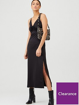 v-by-very-ruched-front-slip-dress-black
