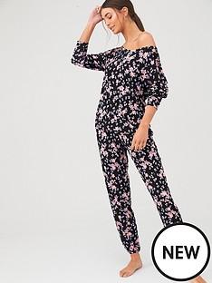 v-by-very-slouch-top-pj-set-black-floralnbsp