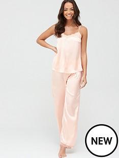 v-by-very-babydoll-cami-and-trousers-pyjama-set-peach