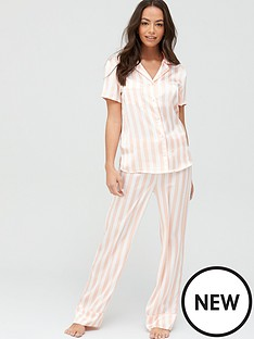 v-by-very-short-sleeved-revere-pyjama-set-striped-printnbsp