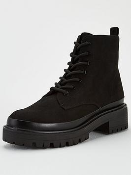 V by Very V By Very Fantaa Chunky Lace Up Boot - Black Picture