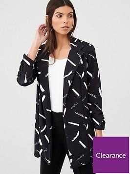 v-by-very-printed-longline-jersey-crepe-blazer-mono