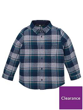 v-by-very-boys-long-sleeve-checked-shirt-blue