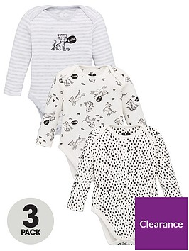 v-by-very-baby-unisex-3-pack-long-sleeve-tiger-and-leopard-bodysuits-white