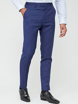 Ted Baker Ted Baker Sterling Birdseye Trousers - Blue Picture