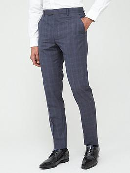 Ted Baker Ted Baker Sterling Check Trousers - Blue Picture