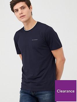 ted-baker-short-sleeve-branded-t-shirt-navy
