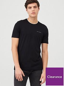 ted-baker-short-sleeve-branded-t-shirt-black