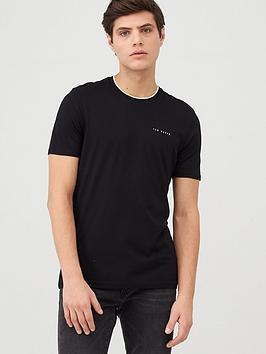 Ted Baker Ted Baker Short Sleeve Branded T-Shirt - Black Picture