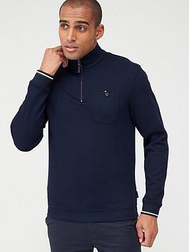 Ted Baker Ted Baker Long Sleeved Funnel Neck Sweatshirt - Navy Picture
