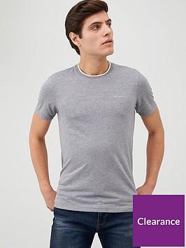 ted-baker-short-sleeve-branded-t-shirt-grey-marl