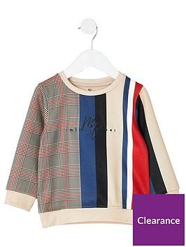 river-island-mini-mini-boys-check-stripe-sweatshirt-stone