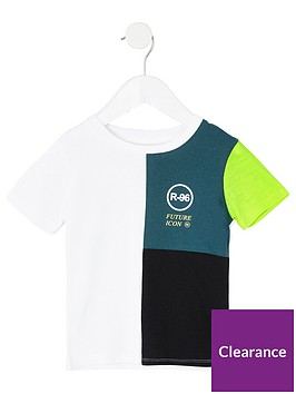 river-island-mini-mini-boys-r96-colour-block-t-shirt--teal