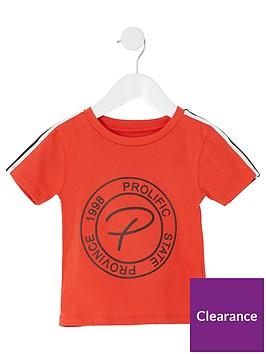 river-island-mini-mini-boys-prolific-embossed-t-shirt-orange