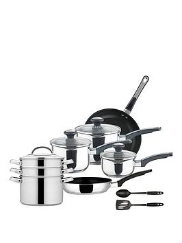 Prestige Prestige Everyday Stainless Steel 10-Piece Pan Set Picture