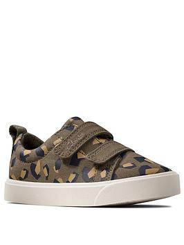 Clarks Clarks Toddler City Bright Canvas Shoe - Camo Picture