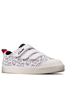 Clarks Clarks X Mickey Mouse City Glove Canvas Shoes - White Picture