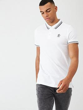 gym-king-pique-polo-shirt-white