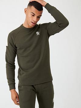 Gym King Core Plus Crew Neck Sweater - Khaki