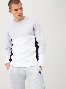 Gym King Gym King Minefield Crew Sweatshirt - Grey/Navy Picture