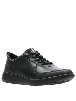 Clarks Clarks Boys Youth Scape Street School Shoes - Black Picture
