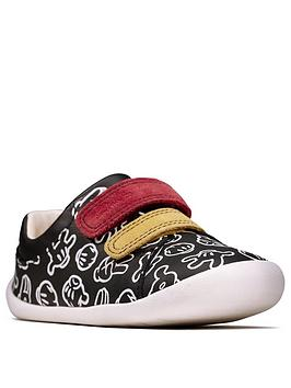 Clarks Clarks Mickey Mouse Roamer Comic Shoes - Black Picture
