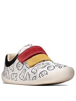 Clarks Clarks Mickey Mouse Roamer Comic Shoes - White Picture