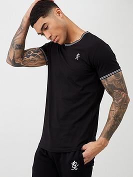 Gym King Gym King Core Tipped T-Shirt - Black Picture