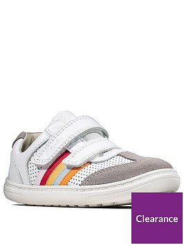 clarks-flash-beau-toddler-trainers-white