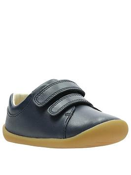 Clarks Clarks Roamer Craft First Shoes - Navy Picture