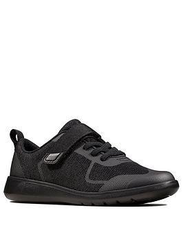 Clarks Clarks Boys Scape Bright School Shoes - Black Picture