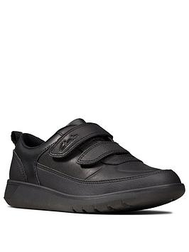 Clarks Clarks Boys Scape Flare School Shoes - Black Picture