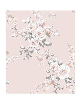 Catherine Lansfield Catherine Lansfield Canterbury Floral Wallpaper  ... Picture