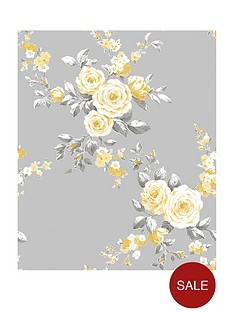catherine-lansfield-canterbury-floral-wallpaper-ndash-grey-ochre