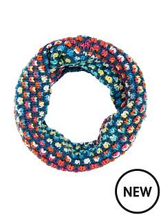 accessorize-girls-rainbow-waffle-snood-multi