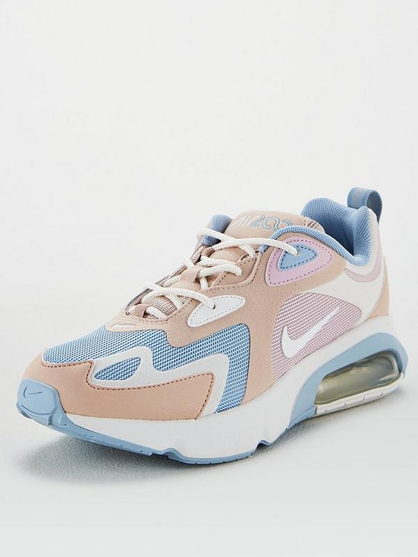 Nike White And Blue Air Max 200