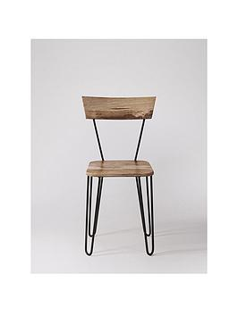 Swoon Swoon Set Of 2 Kyoto Dining Chairs - Natural Mango Wood/Black Picture
