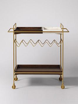 Swoon Swoon Hansel Drinks Trolley - Brass Picture
