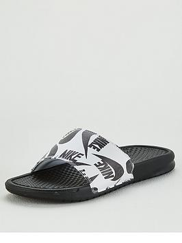 Nike Nike Benassi Just Do It Slides - Black/White Picture