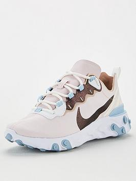 Nike Nike React Element 55 - Pink/White Picture