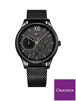 tommy-hilfiger-tommy-hilfiger-black-and-gold-detail-multi-dial-black-ip-stainless-steel-mesh-strap-watch