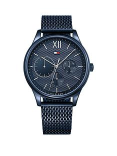 tommy-hilfiger-tommy-hilfiger-blue-and-silver-detail-multi-dial-blue-ip-stainless-steel-mesh-strap-watch